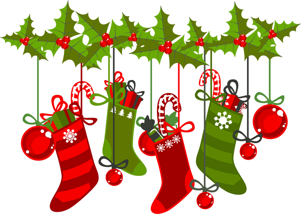 friends stocking stuffer book sale wadsworth library Stuffing the Stockings Clip Art Stocking Stuffer Black and White Clip Art