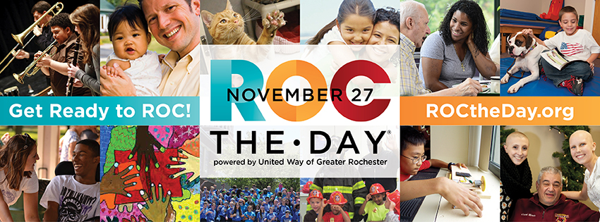 ROC the Day! Donate online to Wadsworth Library today! @ Wadsworth Library | Geneseo | New York | United States