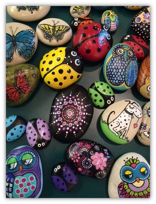 Painted Pebbles with Peek-A-Boo Pebbles: Jessica Gardner Taranko & Amy Gardner @ Wadsworth Library